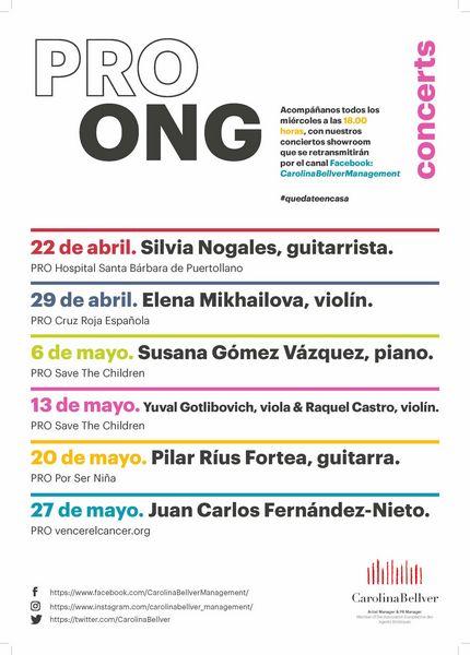 Festival PRO ONG abril 2020 Silvia Nogales - Carolina Bellver. En favor del Hospital Santa Bárbara de Puertollano